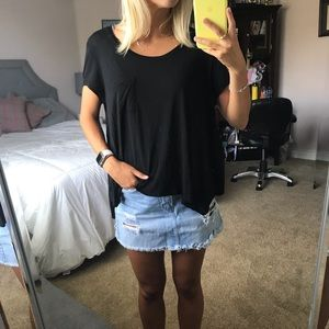 BCBG black tee with pocket